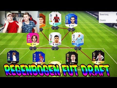 Wer hat die meisten KARTENFARBEN? REGENBOGEN Fut Draft Challenge vs BRUDER! - Fifa 18 Ultimate Team