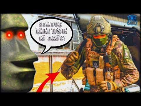 THE STATUE NINJA DEFUSE! 🗿 (Modern Warfare Funny Moments)