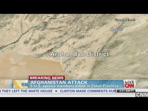 5 American Soldiers Die From 'Friendly Fire' In Afghanistan