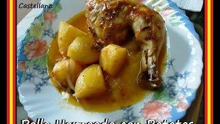 Pollo Horneado con patatas