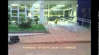 Caixa eletr�nico � explodido em Martinho Campo