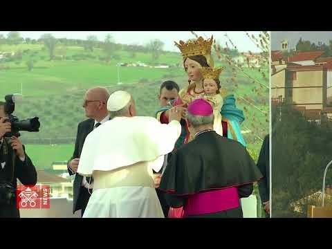 Papa Francesco a Pietrelcina: padre Pio, figlio devoto della Chiesa madre