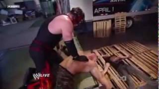 WWE Kane Destroys Ryder And Cena!!!