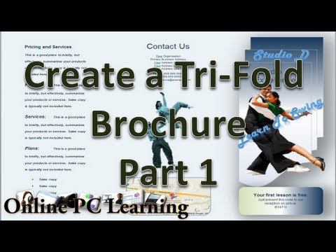 Microsoft Word - Make Brochures in Microsoft Word 2010 - Part 1