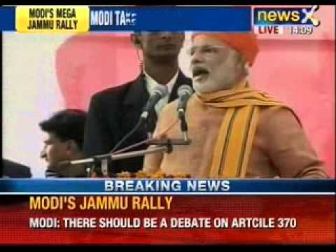 Narendra Modi calls for debate on Article 370 at Jammu Rally - NewsX