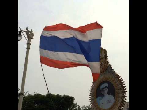 Thai Carrying the flag of Thailand  , Thailand