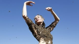 Performance Artist Covers Herself In 12,000 Honey Bees