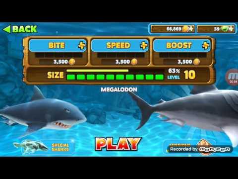 cá mập khổng lồ trong game cá mập đói