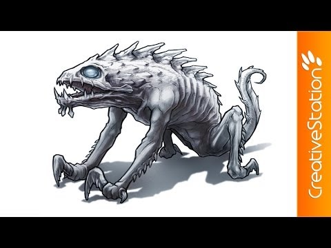 Creature - Concept art ( #Photoshop ) | CreativeStation