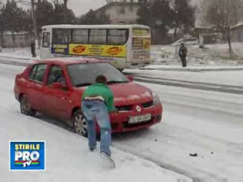 Accident pe gheata din Romania