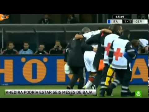 Lesion de Khedira contra italia 2013