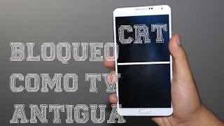 CRT Animation y 5 Animaciones | Bloquea tu dispositivo como Tv Antigua | Cualquier Android