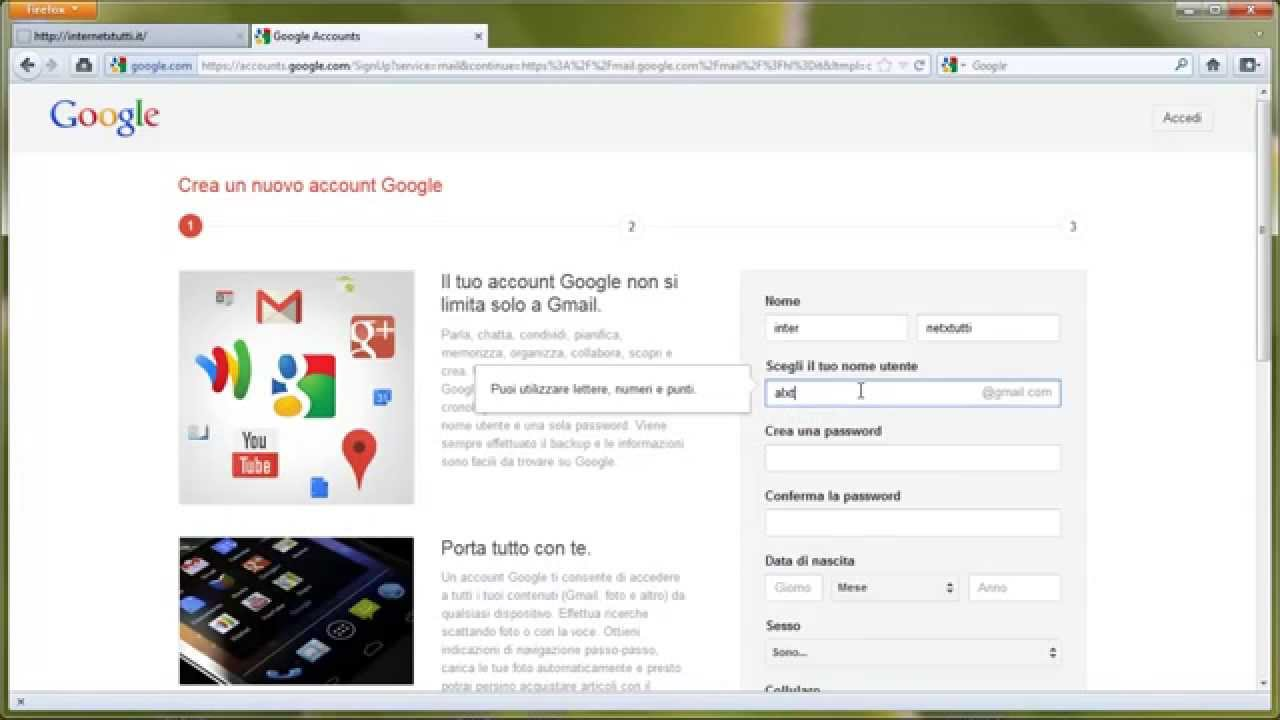 hotmail nuovo account