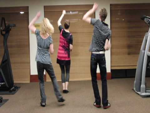 Michael Jackson Beat It Dance Tutorial Part 3 of 4 (back view)