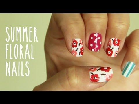 Arty Floral Nails