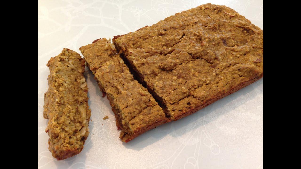 Healthy pumpkin banana nut bread recipe hasfit s gluten free bread