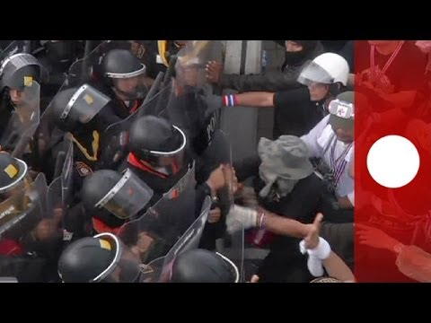 Unrest hits Bangkok as protesters target Finance Ministry