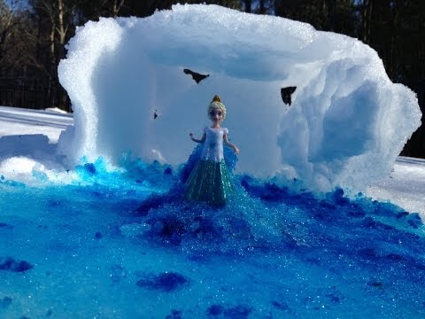 Disney Frozen Queen Elsa How to Make the Movie Disney Frozen Ice Palace from Snow