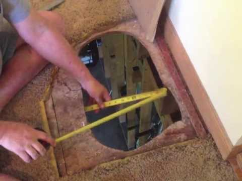 How To Fix A Hole In The Floor Subfloor Repair Diy Youtube