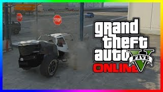 GTA 5 Funny Car Launch Gate Glitch After Patch 1.14 (Seen