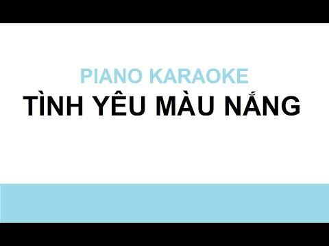 TÌNH YÊU MÀU NẮNG - Piano Karaoke #2 (by Bội Ngọc)