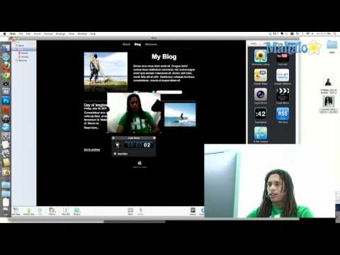 iWeb Tutorial How to Use the iSight Camera