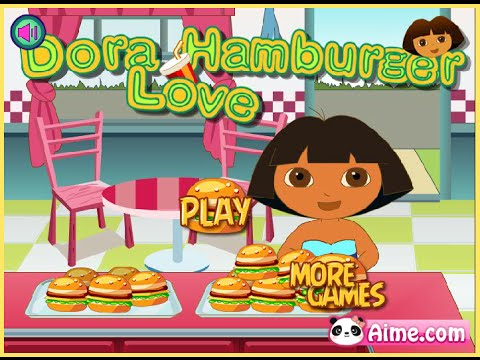 Dora Games - Dora Love Hamburger Game - Cooking Games