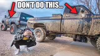 This is why you DON'T take your truck Mudding...