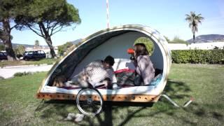 Homemade Teardrop Bicycle Micro Camper Trailer Mp3toke