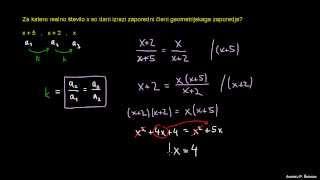 Geometrijsko zaporedje 1