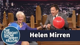 Helen Mirren Chats with Jimmy While Sucking Helium