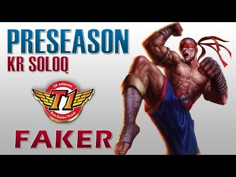 SKT T1 Faker - Lee Sin vs Riven - Preseason KR SoloQ
