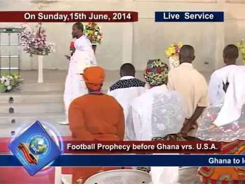 Football Prophesy in Ghanaian Church: 2014 World Cup Football