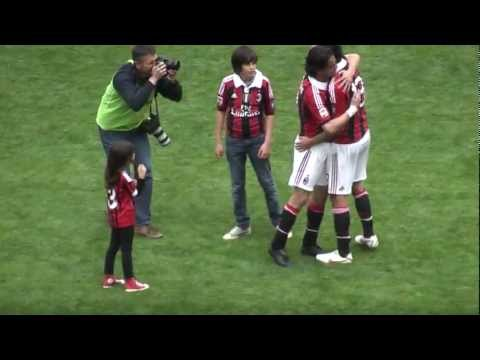 Milan Novara 2-1 ''GRAZIE PIPPO SALUTO COMMOSSO A FINE GARA'' IN FULL HD'' .MTS