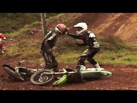 MOTOCROSS FIGHTS, WRECKS & BROKEN BONES!!!