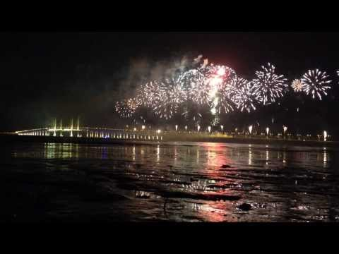 Penang 2nd Bridge Fireworks