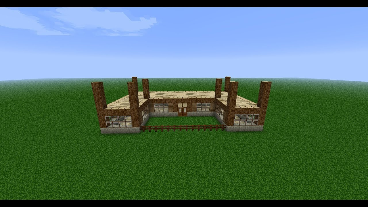 Minecraft construction d 39 une maison ep 1 youtube for Image construction maison
