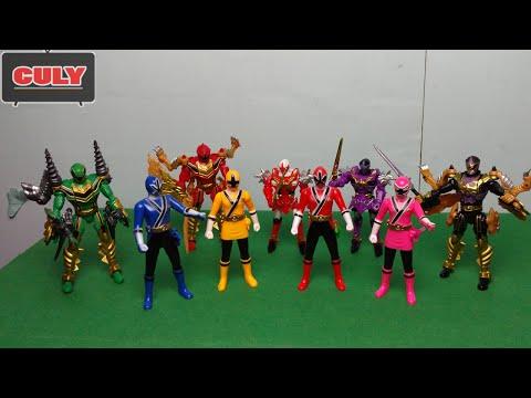 Siêu nhân thần kiếm thi đấu với siêu nhân phép thuật đồ chơi trẻ em chế hài power rangers war