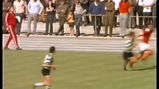 Imagens a cores da Final da Taça de Portugal de 1970/71 entre Sporting e Benfica retiradas do Filme Eusébio - A Pantera Negra