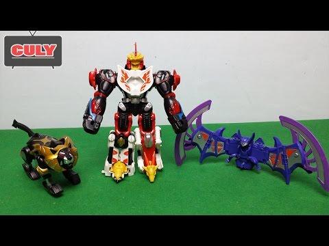 Siêu nhân mãnh thú Gekiranger Robot biến hình lắp ráp đồ chơi trẻ em Megazord toy for kids power