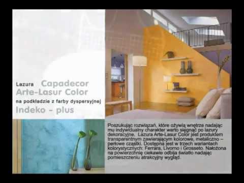 Caparol - Lazura Capadecor Arte-Lasur Color na podkładzie z farby dyspersyjnej Indeko-plus