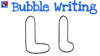 l in bubble letters l bubble lowercase l bubble letter
