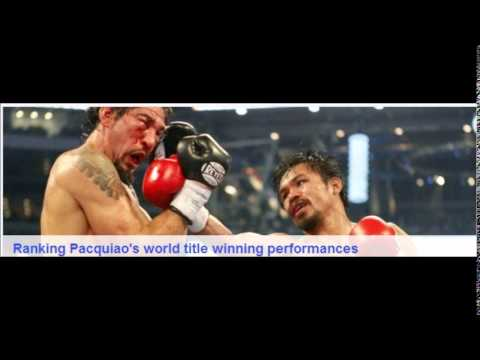 Ranking Manny Pacquiao's Nine World Title Winning Performances
