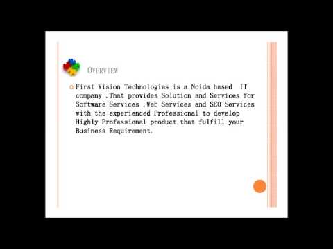 First Vision Technologies -- Website Design and development In Noida