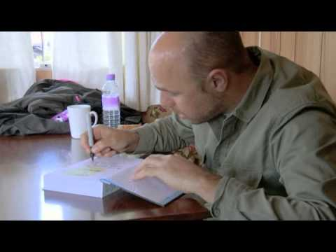 Karl Pilkington's first ever book signing (he's not happy)
