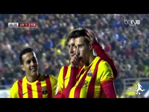 Barcelona 4 - 1 Levante 23 -  1 - 2014  HD By Angelking