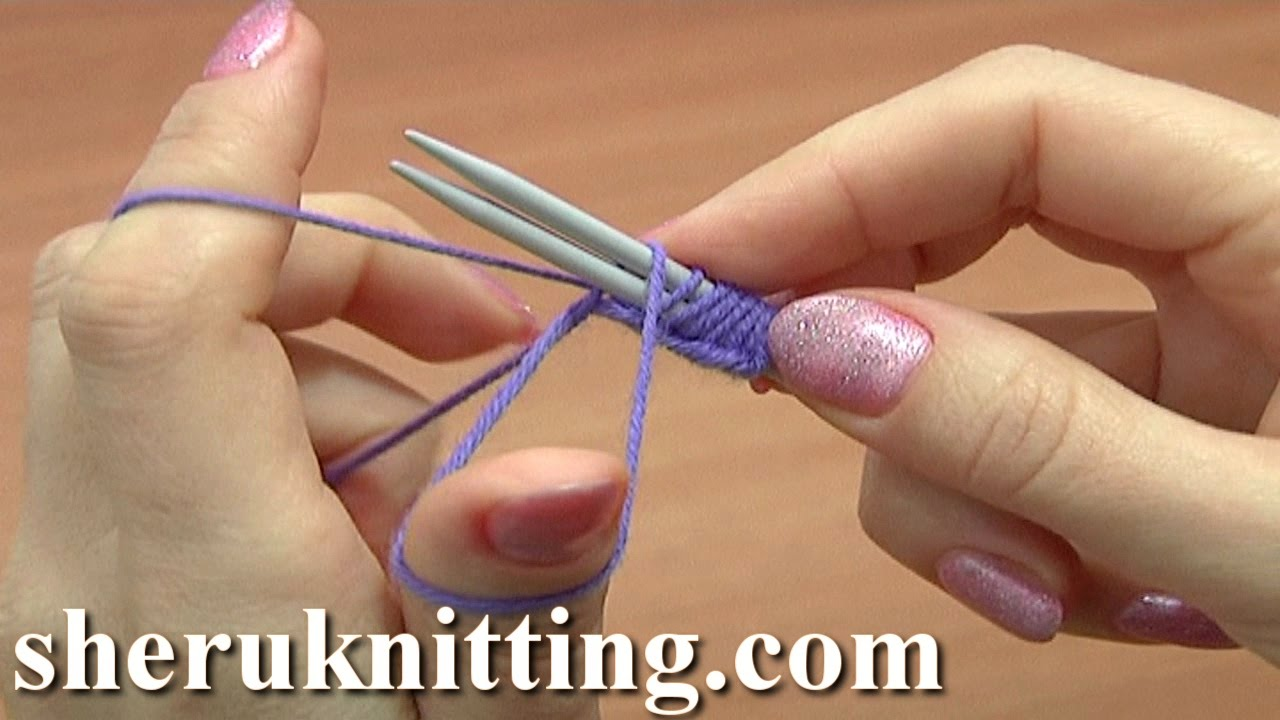 Knitting Casting On With Two Needles : Classic way to cast on using two knitting needles tutorial