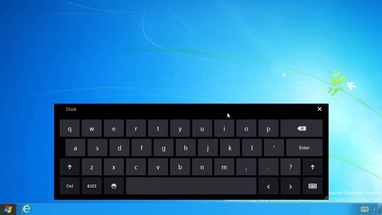 Enable virtual on screen touch keyboard on windows 8 youtube for Window keyboard