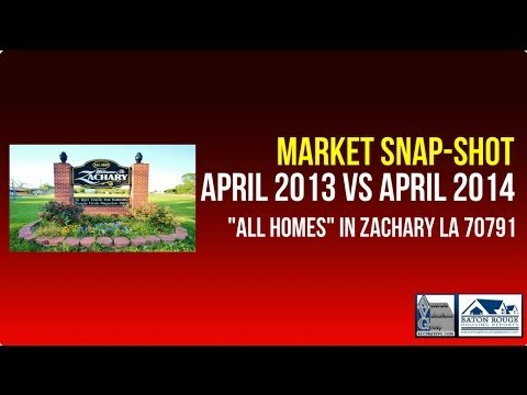 Zachary Louisiana Home Sales Prices Up April 2013 vs 2014