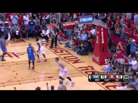 NBA CIRCLE - Oklahoma City Thunder Vs Houston Rockets Game 4 Highlights 29 April 2013 NBA Playoffs